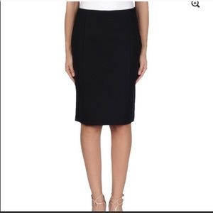 Prada Black Wool Pencil Skirt 40/4